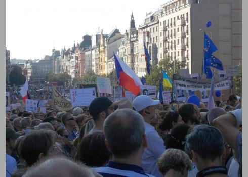 Demonstration gegen alt-kommunistische Bestrebungen, für Freiheit und Demokratie