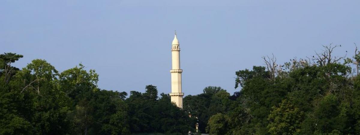 Minarett im Schlosspark des Schlosses Lednice