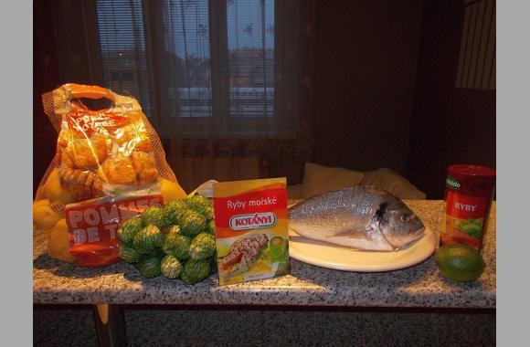 Die Zutaten: Kartoffeln (mehligkochend), Rosenkohl, 1 Limette, 1 Dorade und eine spezielle Gewürzmischung für Meeresfisch.