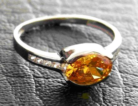 Silberring mit Glas statt Citrin