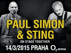 On Stage Together: Paul Simon und Sting in Prag