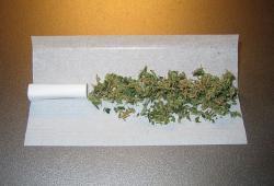 Ungerollter Joint